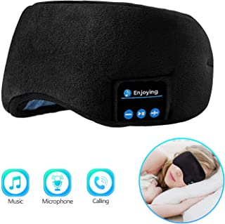 Bluetooth Sleeping Eye Mask | Sleep Headphones, Joseche Wireless Bluetooth Headphones Music Travel Sleeping Headset 4.2 Bl...