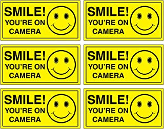 (Set of 6) Smile You're On Camera Sign - 2
