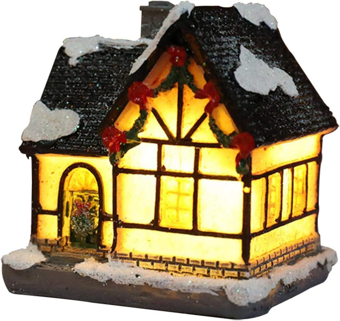 Shipping included AEZON Christmas 2021 model Village Houses House Sno Light Church