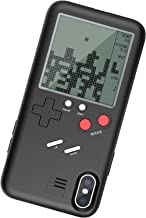 Vorson Tetris Game-Boy Game Case for iPhone X Shell TPU Silicone Protective Cover Retro Gameboy iPhone Case (Black for iX)(WANLE - Play and Have Fun)