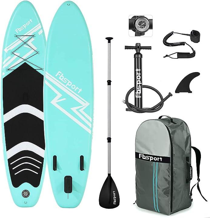 Tavola surf gonfiabile per sup stand up, spessore 15 cm, con pompa + pagaia in alluminio regolabile in 3 pezzi GA-XTSQDUW