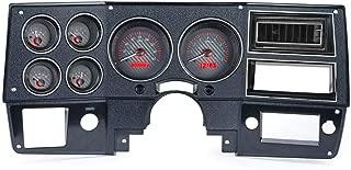 Dakota Digital 73-87 Chevy Truck VHX System, Carbon Fiber Face - Red Display