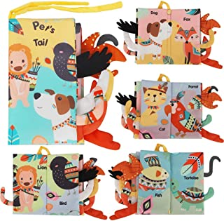 comprar comparacion BeebeeRun Libros de Tela para Bebé Animales Activity Libros Blandos,Aprendizaje y Educativo Juguete para Bebé Recién Nacid...