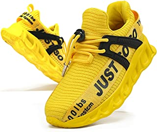 Fujeak Kids Boys Trainers Running Walking Tennis Fashion Sneakers Casual Toddler Children School Outdoor Gym Comfortable A...