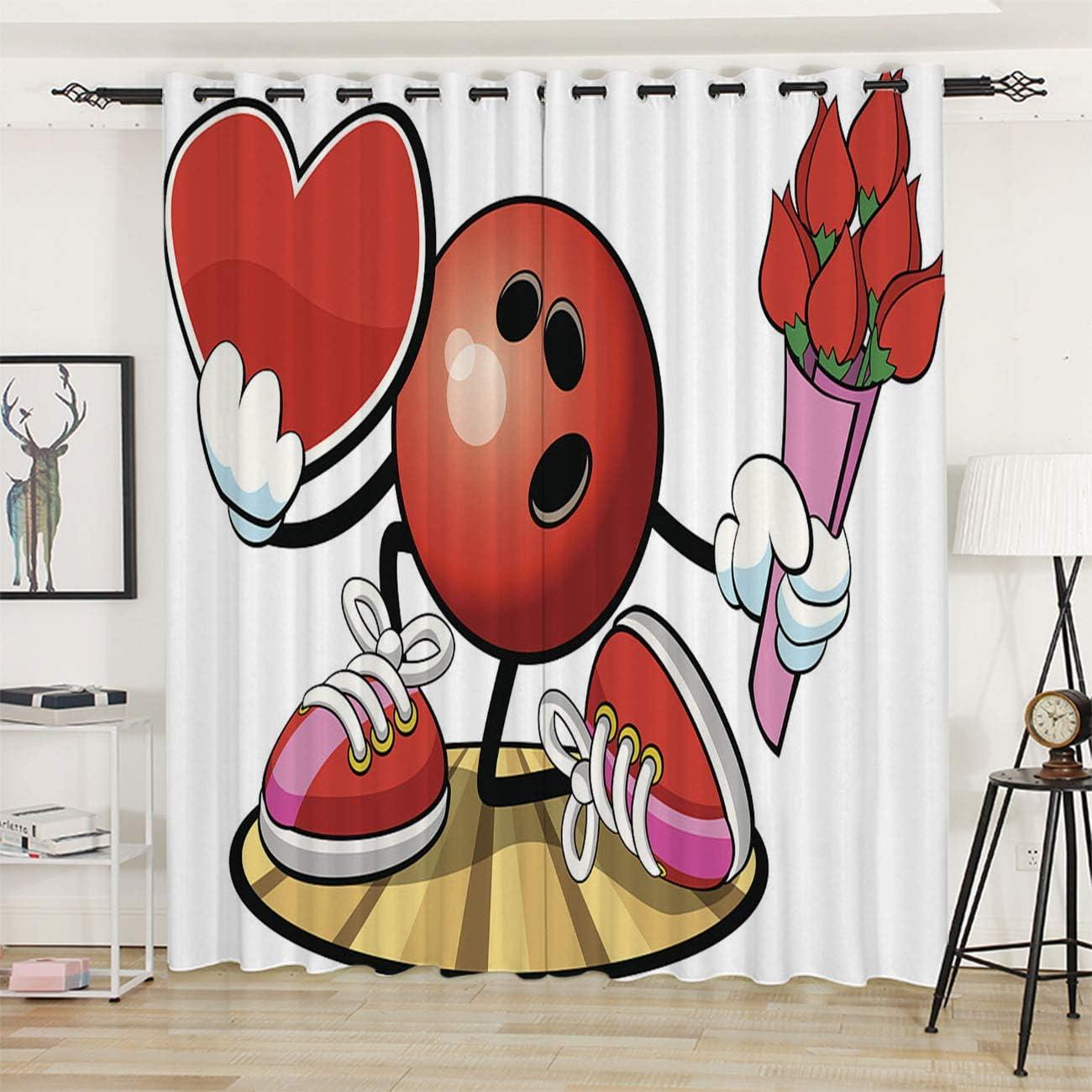 捧呈 OTTOSUN Blackout Curtains Panels 大特価 for Charac Bowling Ball Bedroom