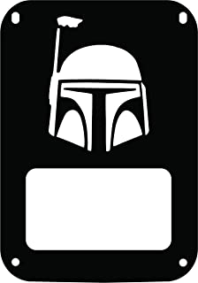 JeepTails Star Wars Boba Fett Head - Jeep JK Wrangler Tail Lamp Covers - Black - Set of 2