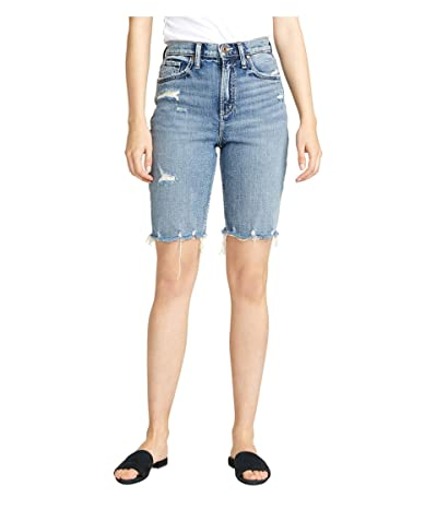 Silver Jeans Co. Frisco High-Rise Knee Shorts L54608RCS239 (Indigo) Women