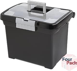 Sterilite Portable File Box Pack of 4