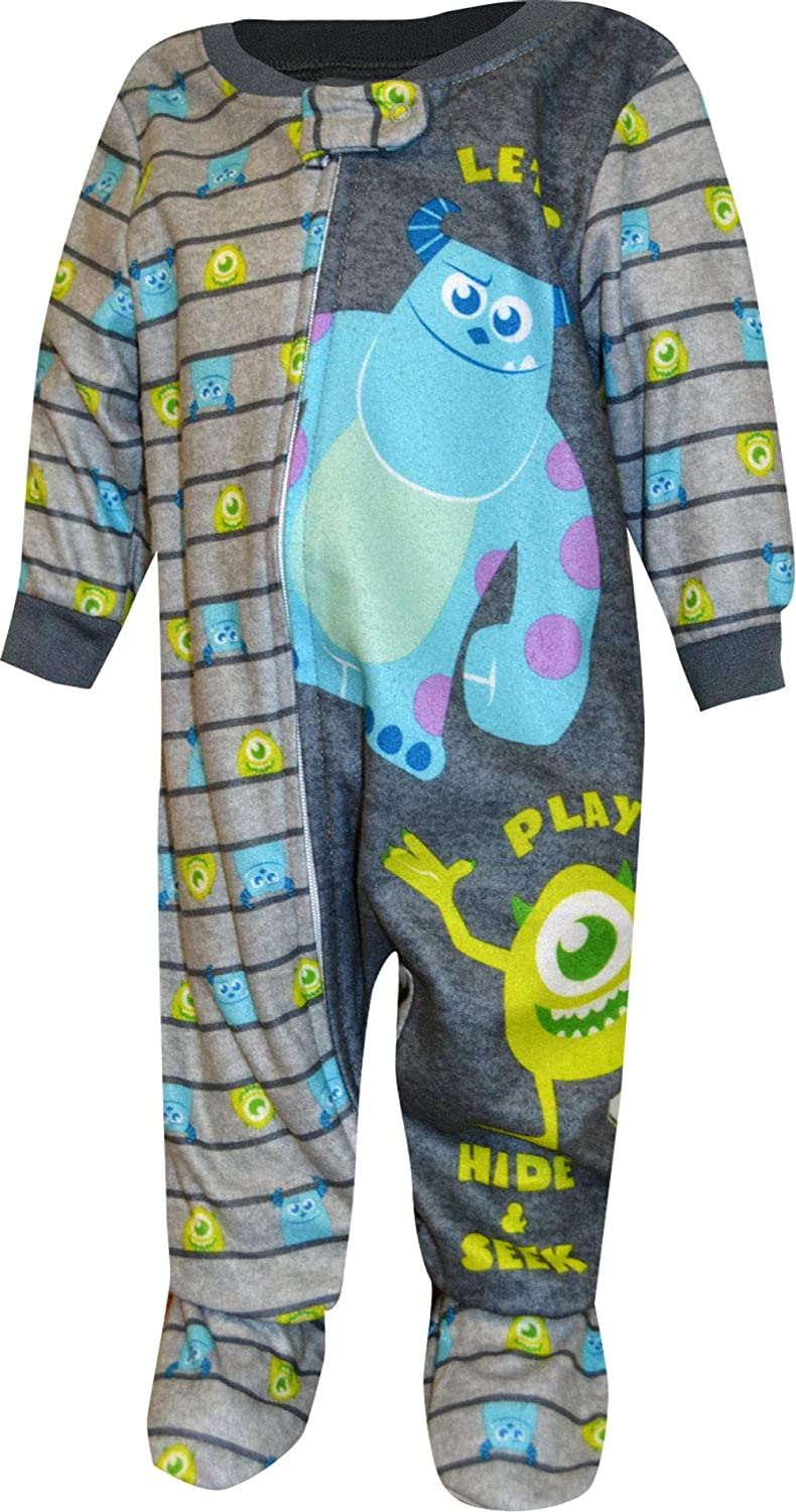 Disney Monsters INC Pajamas for Babies Footed Blanket Sleeper Mike and Sully PJ