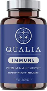 Qualia Immune - A Smarter Immune System Supplement That Supports Immunity Cells to Respond Intelligently | Promotes Antibo...