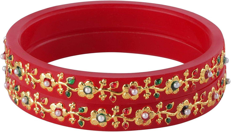 Efulgenz Fashion Jewelry Indian Bollywood Crystal Rhinestone Floral Wedding Bridal Bracelet Bangle Set