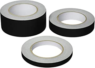 """SticMaster Premium Grade Black Gaffers Tape] Multi Pack (1)2"""" (1)1"""" (1)½"""" inch x 30 Yards Each–Black Matte Cloth Photographers Tape –Main Stage Gaff Tape - Easy to Tear & No Residue"""
