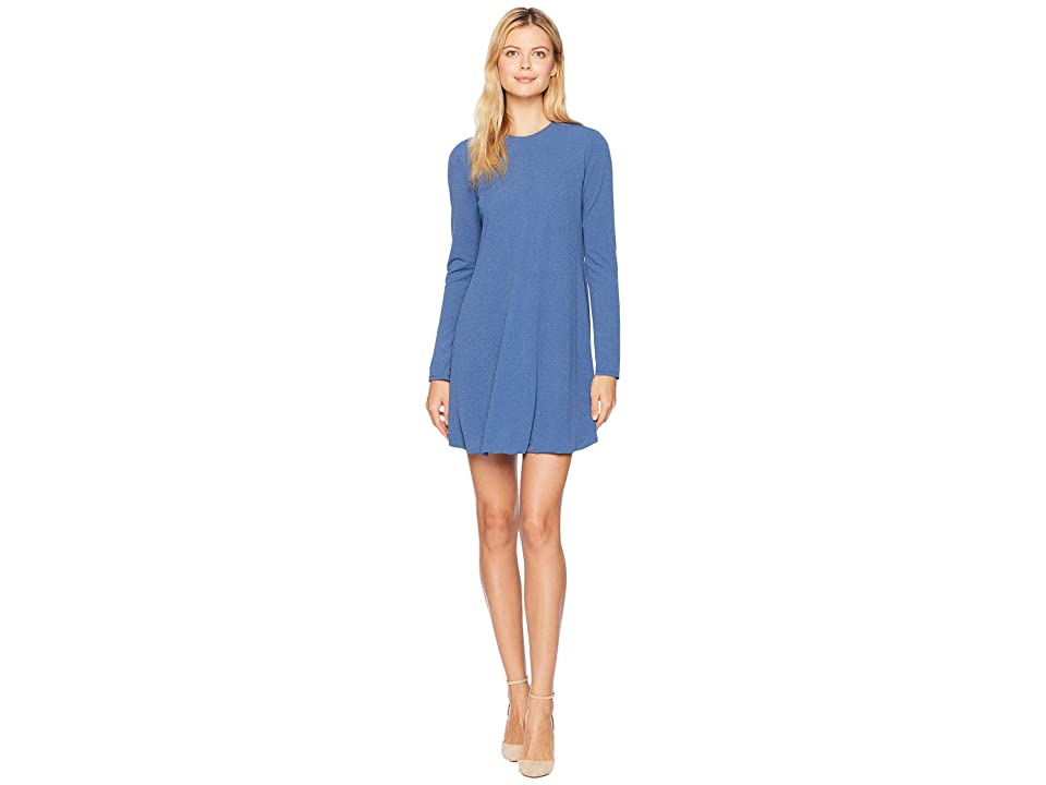 London Times Long Sleeve Bubble Dress (Blue Jean) Women