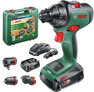 Bosch DIY tools 06039B5075 Bosch Cordless AdvancedDrill 18 (2X Batteries, 18 Volt System, 3 Drill attachments, in a Carryi...