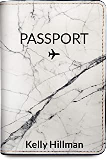 Marble Personalized Leather Passport Holder Cover - Customized Travel Gift