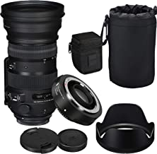 Sigma 150-600mm f/5-6.3 DG OS HSM Contemporary Lens for Canon and TC-1401 1.4X Teleconverter Kit + Prime Accessory Bundle