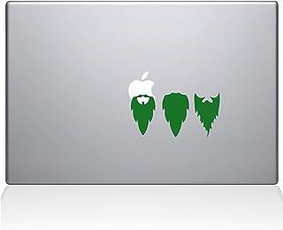 "The Decal Guru 2038-MAC-13X-LG Apple Beards Decal Vinyl Sticker, 13"" MacBook Pro (2016 & Newer), Green"