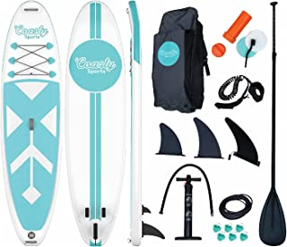 Coasty Sports: Uncharted Premium Inflatable Stand Up Paddle Board with Accessory Kit and Backpack - 6 in Thick, 10 ft 6 in...