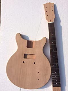PROJECT DIY ELECTRIC GUITAR KIT MADE BY CNC JUNIOR DOUBLE CUTAWAY