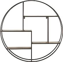 Rivet Contemporary Round Floating Iron 4 Shelf Wall Unit - 29.72