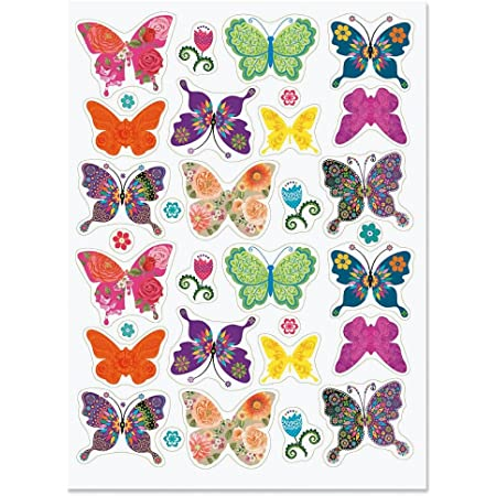Bicycle Sticker Set 24 x butterflies /& spots car stickers bike stickers