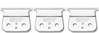 3 PACK T-Outliner Replacement Blades for Andis Shaver (#04521) – For Models GTO, GTX, GO Hair/Beard Trimmers, Slick Polished Finish - Made from the Finest Carbon Steel by Essential Values