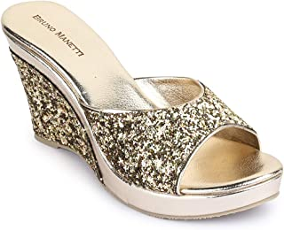 Bruno Manetti Women Glitter Wedges