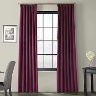 HPD Half Price Drapes VPCH-180104-84 Signature Blackout Velvet Curtain, 50 X 84, Cabernet