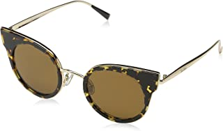 نظارة شمسية ام ام اي ال دي ون دبليو 4 2pt 46 للنساء من ماكس مارا، لون هافانا ذهبي/ اسود بني