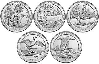 2018 P, D BU National Park Quarter 10 Coin Set Uncirculated