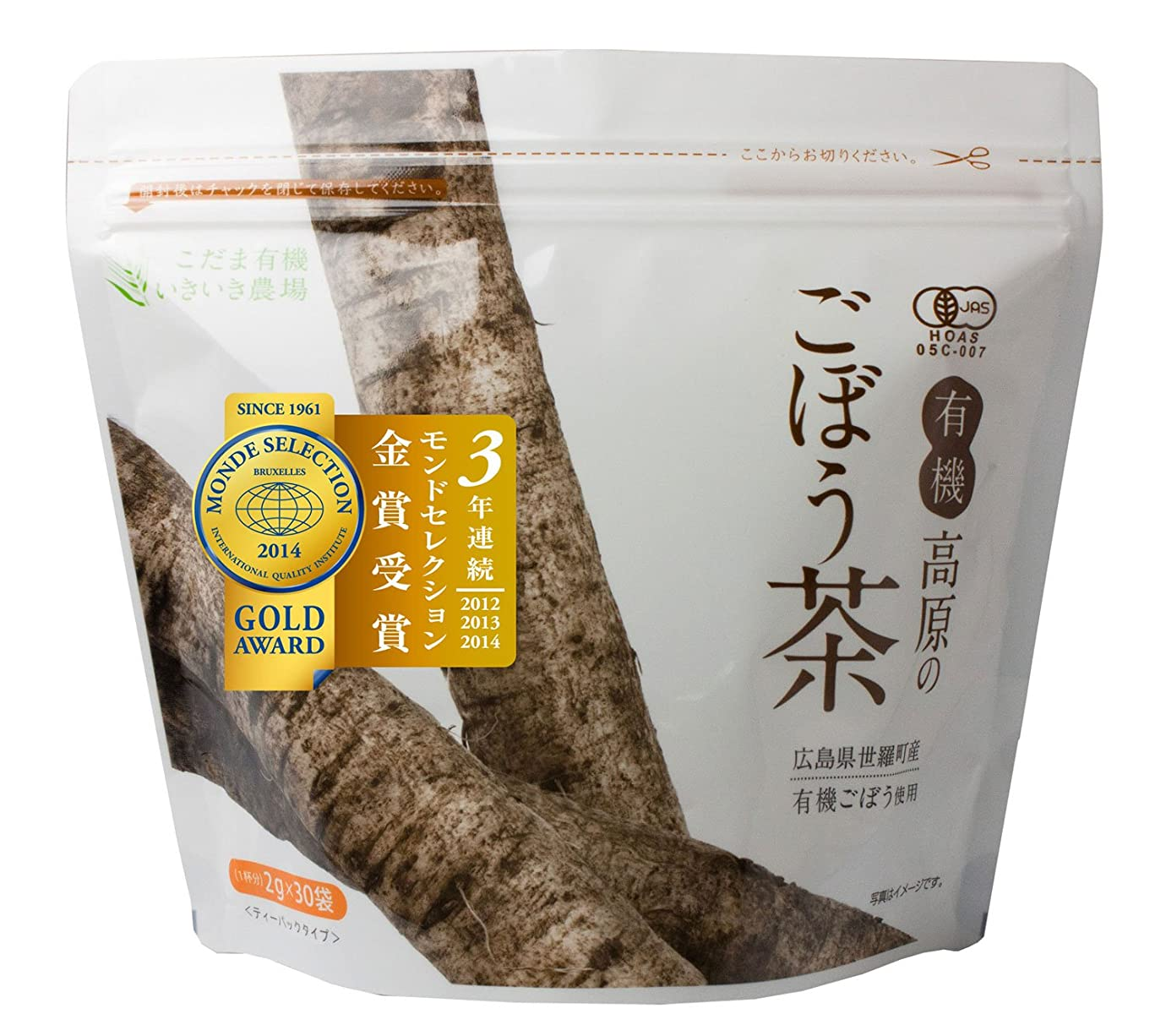 針台風悔い改めるこだま食品 有機高原のごぼう茶 2g×30袋 311037001