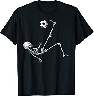Skeleton Soccer Football Halloween T Shirt Costume Gifts Tee