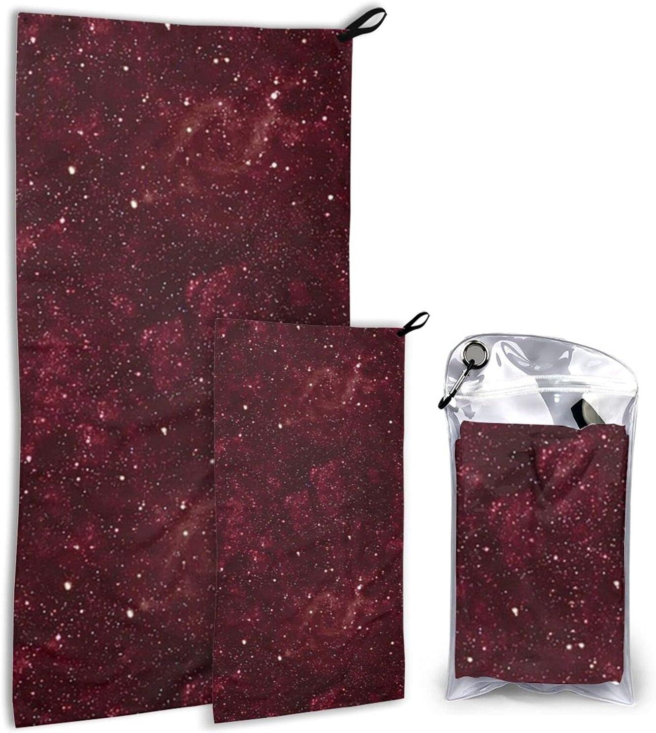 Maroon Galaxy Very popular Microfiber Regular dealer Towels 2 Pack Dry Tow - Camping Quick