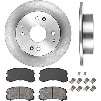 See Desc OE Replacement Rotors w//Ceramic Pads F+R 2004 2005 Mitsubishi Lancer