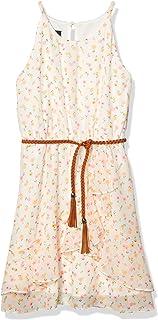فستان Amy Byer بدون أكمام برسوم زهور غير متماثلة