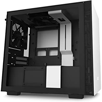 NZXT H210 - CA-H210B-W1 - Mini-ITX PC Gaming Case - Front I/O USB Type-C Port - Tempered Glass Side Panel - Cable Management System - Water-Cooling Ready - Radiator Bracket - White/Black