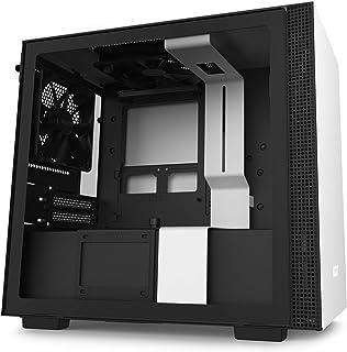 NZXT H210 - Caja PC Gaming Mini-ITX - Panel frontal E/S Puerto USB de Tipo C - Panel Lateral de Cristal Templado - Preparado para Refrigeración Líquida - Soporte para Radiador - Blanco/Negro