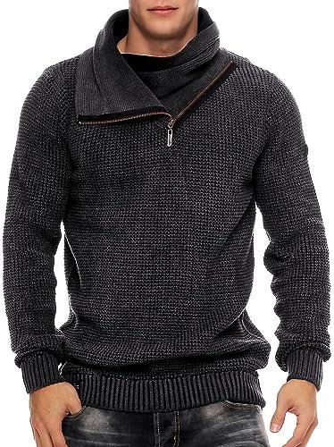 Khujo - Sweat-Shirt à Capuche - Robe - Homme Noir Noir