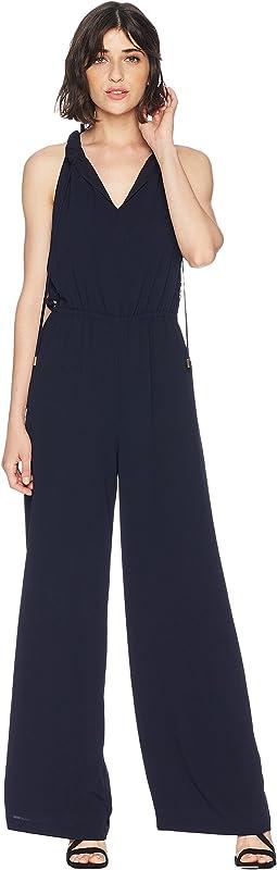 Chiara Crepe w/ Lace Mix Jumpsuit