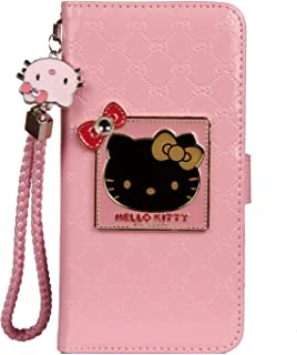 iPhone 6 / 6s Hello Kitty Wallet Case,Bling Mirror Bowknot PU Leather Purse Card Slot Pouch Flip Cover Kickstand Case for Girl Woman Lady (Pink, iPhone 6 / 6s)