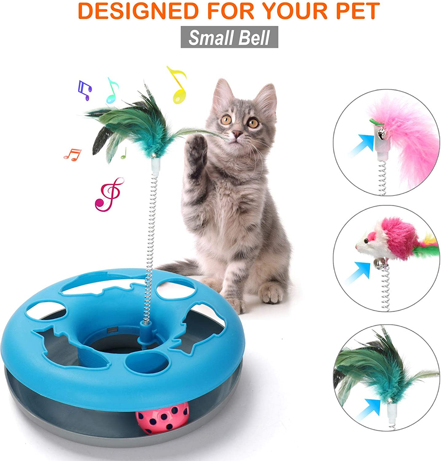 Buy 221 in 21 Cat Toys, Cat Toys for Indoor Cats, Spring Pet Toy with ...