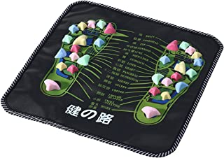ROSENICE Foot Massage Mat Reflexology Massage Mat Walk Stone Relaxing Pressure Muscle Pain Relieve (Black)
