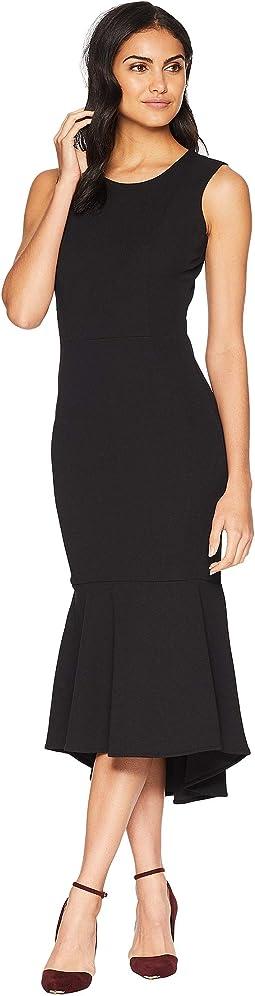 Flounce Tea Length Dress