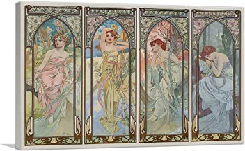 ARTCANVAS Times of The Day Canvas Art Print by Alphonse Mucha - 40