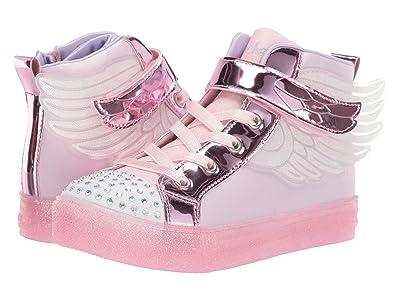 SKECHERS KIDS Shuffle Brights 20168L (Little Kid/Big Kid) (Light Pink) Girl