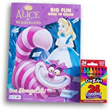 Alice in Wonderland One Strange Cat Jumbo Coloring and Activity Book with Crayons