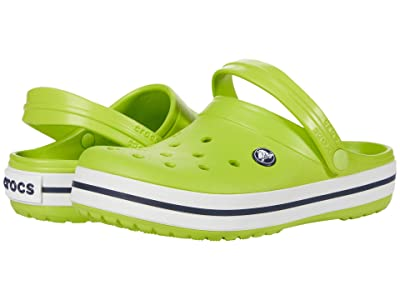 Crocs Kids Crocband Clog (Toddler/Little Kid) (Lime Punch) Kids Shoes