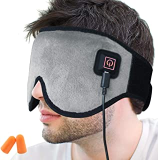 Creatrill X-Large Heated Eye/Sinus Mask, USB Heating Compress Pad for Dry Tired Puffy Eyes, Dark Circle, Migraines Headache, Blepharitis, Sties, Sinus Pain Pressure Relief Hot Therapy (Gray)