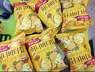 HaiTai Honey Butter Chip 60g 8ea / Korean Potato Chips (8 bags)