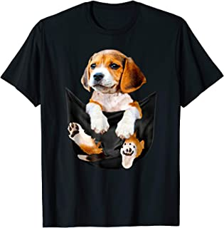 Beagle in pocket tee t-shirts big pocket in front of the